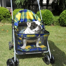 1minute to install simle folding pet stroller  large space breathable dog strollers safe and reliable dog carrier for large dogs