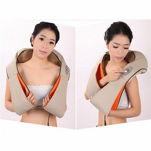 U shape Cervical Spine Massager with Heat and Timing Function Relax Shoulder Back Neck Breathable Massager Relieve Sore Muscles