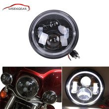 "7"" Round 60W LED Headlight Angel Eyes DRL IP67 For Harley Davidson Motorcycle Hummer SUV For JEEP CJ-7 C/5"
