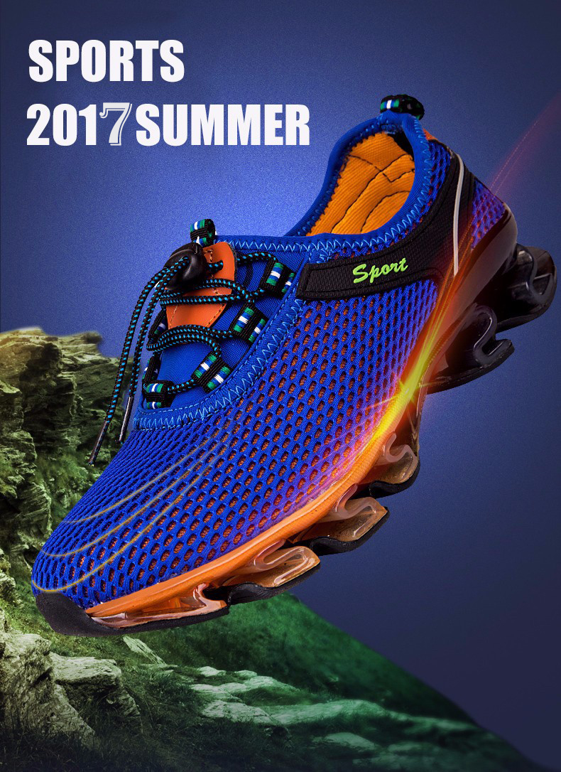 Super Cool breathable running shoes men sneakers bounce summer outdoor sport shoes Professional Training shoes plus size 5