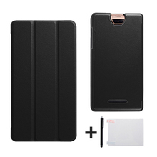 "For new Acer Iconia Talk S A1-734 7"" Tablet Stand protective PU leather cover case+screen protector+stylus(China)"