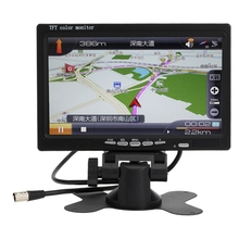 7 inch LCD Car Monitor Rearview Screen HDMI VGA DVD Digital Display Resolution For Car Backup Camera +Remote Control