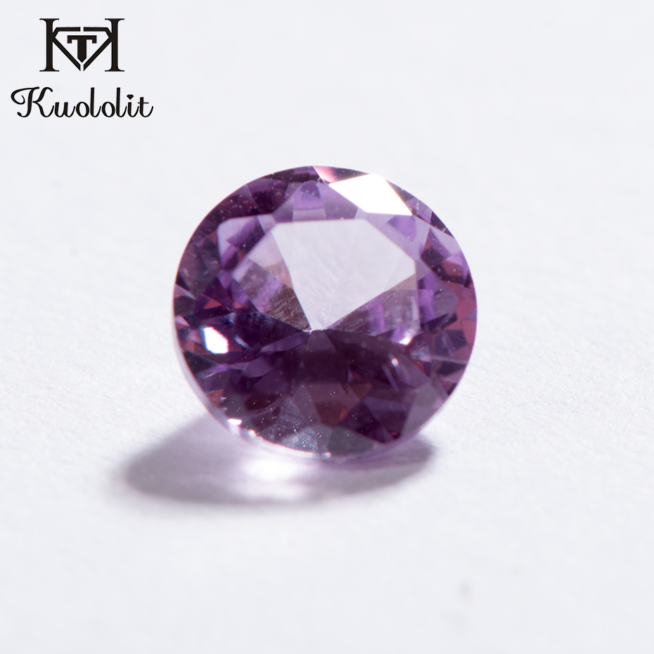 Kuololit Alexandrite 925-Jewelry Loose Gemstone Whole-Sales Round for DIY 5pcs/Pack title=