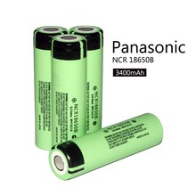 1 PCS 100% authentic brand new 18650 3400 mah electronic cigarette rechargeable lithium battery 3.7 v panasonic + free delivery(China)
