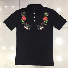 High Quality Embroidered little bees Tops&Tees Men's Polo Shirts fashion Style Summer Striped brand short sleeve polos shirts
