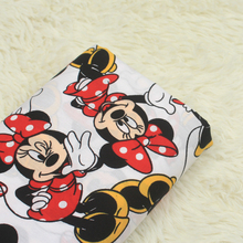 1 meter export cartoon mickey mouse cat print fabric, garment dress doll cloth 100% cotton poplin CR-A57(China)