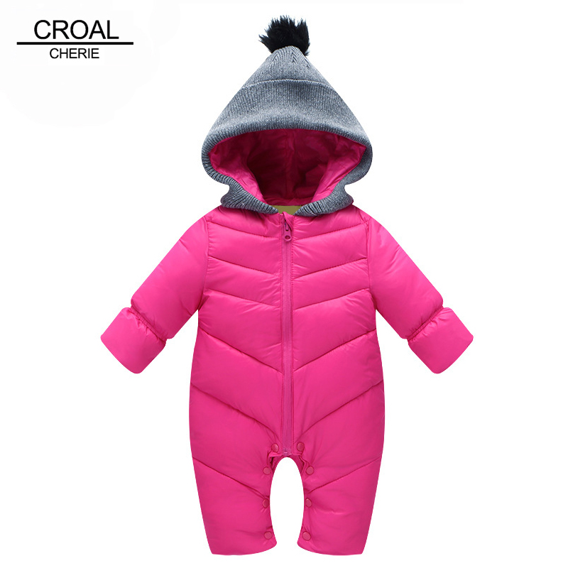 70-110cm Fashion Winter Thickening Newborn Baby Rompers Girls Clothing Kids Boy Clothes Cotton Snowsuit Jumpsuit Infant Clothes