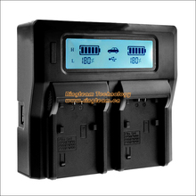 Quick Dual Charger BC-TRV with LCD for Sony NP-FV30 FV50 FV70 FV90 FV100 FH50 FH70 FH90 FH100 FP50 FP70 FP90 FP100 Batteries(China)