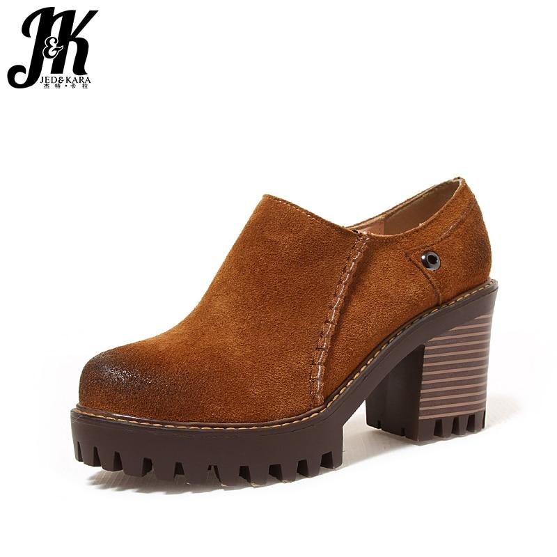 J&amp;K 2017 Big Size 33-43 Faux Suede Women Pumps Fashion Zipper Women Shoes Casual High Heels Shoes Woman Platform Women Shoes <br>
