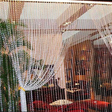 99FT 30M Octagonal Acrylic Crystal Beads Curtain Iridescent Garland Strand Shimmer Curtains Party Wedding Decoration
