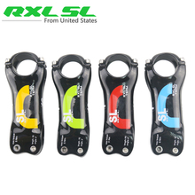 RXL SL Bicycle Stem Carbon Road Stems UD Glossy Mountain Bike Carbon Stem 6/17 Degree Green70/80/90/100/110mm Mtb Stem(China)
