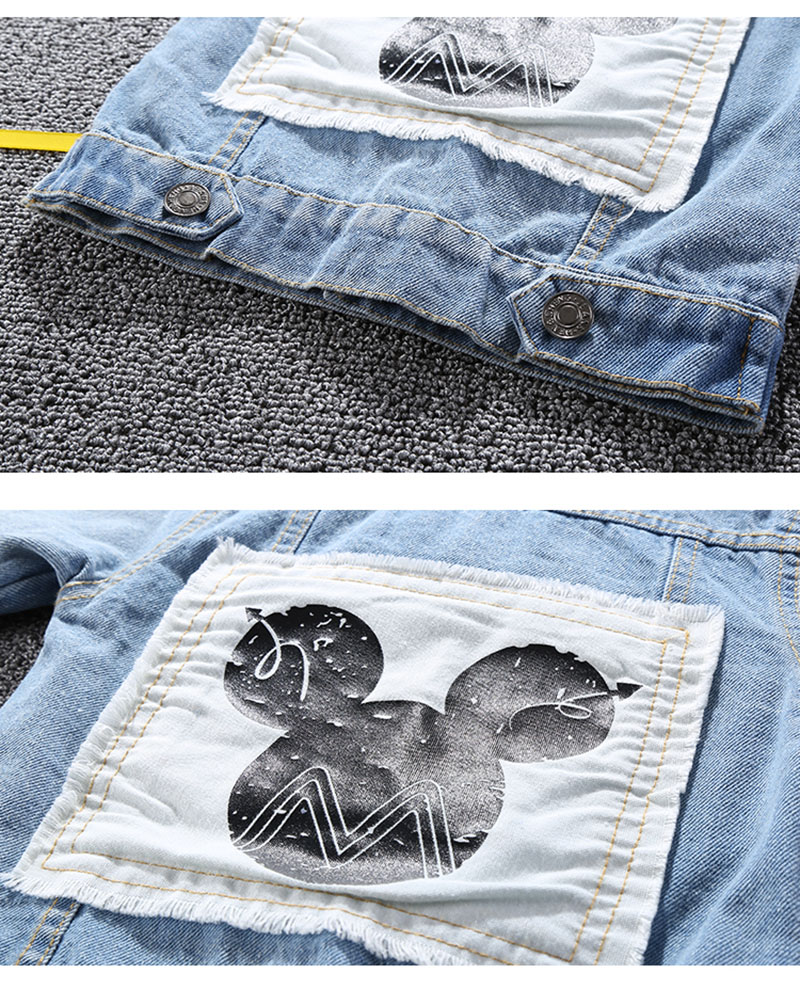 19 Mickey Denim Jacket For Boys Fashion Coats Children Clothing Autumn Baby Girls Clothes Outerwear Cartoon Jean Jackets Coat 7