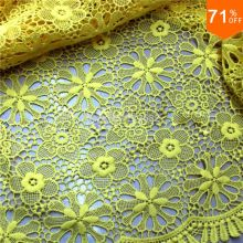Luxury textile polyester mesh cloth semi circular bead piece embroidery textile manufacturers supply fabric designer cloth yarn