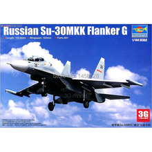 Trumpeter hobbyboss scale model 1/144 scale aircraft 03917 RUSSIAN SU-30MKK FLANKER Assembly Model kits scale airplane model kit