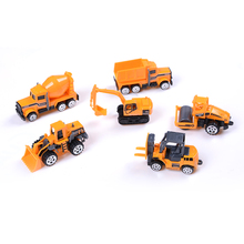 New 6pcs/set mini Diecasts Car alloy construction vehicle Engineering Car Dump Truck Artificial Model Toys For boy kids