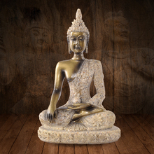 Buddha Statue Creative Gifts Resin Figurines Decorative Buddha Figures Statues Small Religion India Style Home Decoration