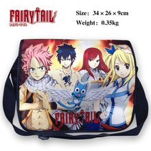 Colorful polyester shoulder bag printed with Anime Fairy tail Natsu Dragneel Happy Gray Elza Lucy