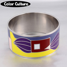 2017 Vintage Fashion Jewelry indian Wide Bangles for Women New Design Titanium Big Bracelet