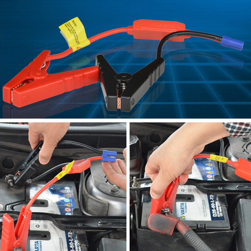 Road Power Car Truck Jeep SUV Vehicle Booster Cable Jumper steel Clamps 2pc