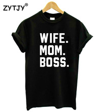 Buy WIFE MOM BOSS Letters Print Women tshirt Cotton Casual Funny t shirt Lady Girl Top Tee Hipster Drop Ship S-1 for $3.92 in AliExpress store