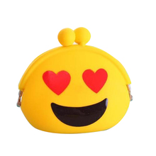Women Cute Silicone Expression Jelly Wallet Change Bag Key Pouch Mini Coin Purse  #1
