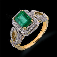Hot Sale 2.55Ct Natural Diamond Emerald Ring In Solid 14Kt Yellow Gold Ring Emerald Jewelry For MOM