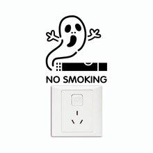 AWOO KG 111 Creative No Smoking Slogans Remind Warning Cartoon Wallpaper