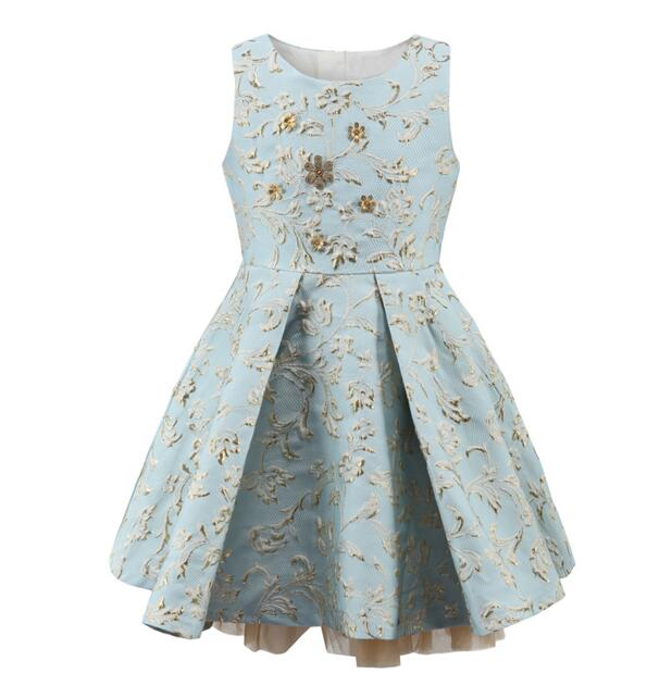 High Quality 2017 Spring Autumn Girls Embroidered Princess Dress Children Sleeveless Lace Birthday Party Dress<br>