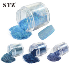 STZ 1 Bottle 10g Blue Beauty Colors Small Acrylic Dust Gem Nail Art Glitter Powder Tips DIY Salon Decorations #10/20/49/60