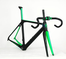 Rolling Stone COMPASS Carbon Bike Frame Road Frame Carbon Fiber Aerodynamic Design Black Green