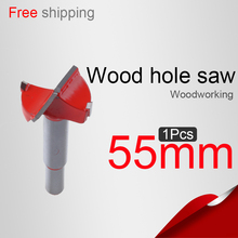 55mm 2.165in Wood Hole saw  Lock hole Hinge reamer  Wood drilling Woodworking Core drill bit  Woodworking knife