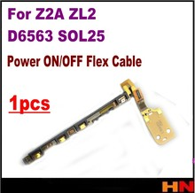 1pcs Power ON/OFF Flex Cable For SONY Xperia Z2A SOL25 D6563 ZL2 Volume switch button shutter Flex cable modul replacement(China)