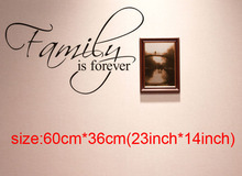 DCTOP Art Fashion Word Family Is Forever DIY Vinyl Stickers Wall Letters For Decorations Bedroom Living Room Glow In The Dark