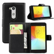 For LG L Fino Dual D295 D290 L70+ case cover ,New 2014 fashion luxury filp Lychee leather wallet stand phone case cover cell