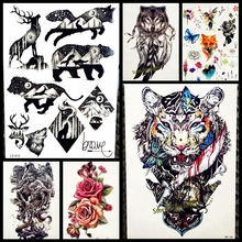 1PC Sexy men women temporary tattoo stickers GQS-A061 Evil roaring Chinese Dragon paw design waterproof Transferable arm Tattoos(China)