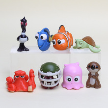 8pcs/set Finding Nemo Clownfish Action Figure Toys Collectible Models Dolls Gifts For Kids
