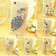 ,Luxury Diamond Hard Case Cover For IPhone 7 7 Plus Case For Iphone 4 4S 5 5S SE 6 6S Plus Back Cover Case