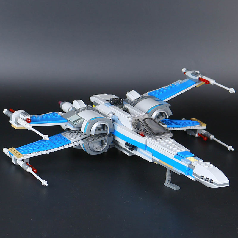 05029 LEPIN Star First Order Poes X-wing Fighter Model Building Blocks Enlighten Figure Toys For Children Compatible Legoe<br>