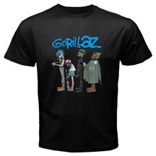 T Shirt Hot Sale Clothes New Gorillaz *Rock The House Rock Band Men'S T Shirt(China)