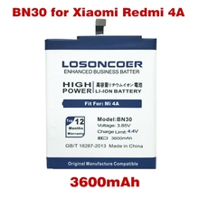 LOSONCOER Replacement Phone Batteries BN30 for Original Xiaomi Redmi 4A Battery(China)