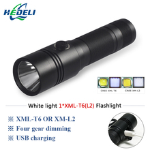 powerful led flashlight cree xml t6 L2 lanterna militar lamp usb charge 18650 battery torch waterpoof Camping outdoor lights(China)