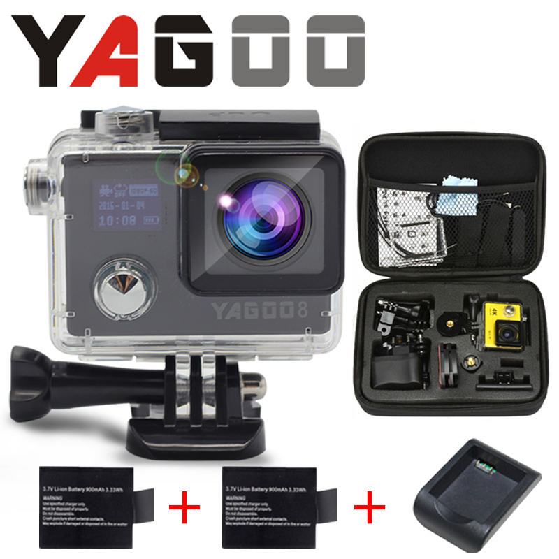 Camera acao gopro hero 4 estilo 4 k 24fps yagoo8 prova d agua NTK96660 wi-fi Camera de Esportes ir pro Cam Capacete de Mergulho<br><br>Aliexpress
