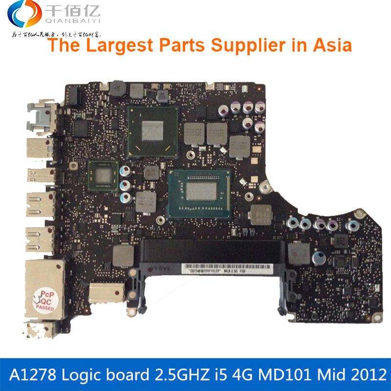 A1278 Logic Board 13\' MD101 4G i5 2.5GHZ 820-3115-A Mid 2012 1