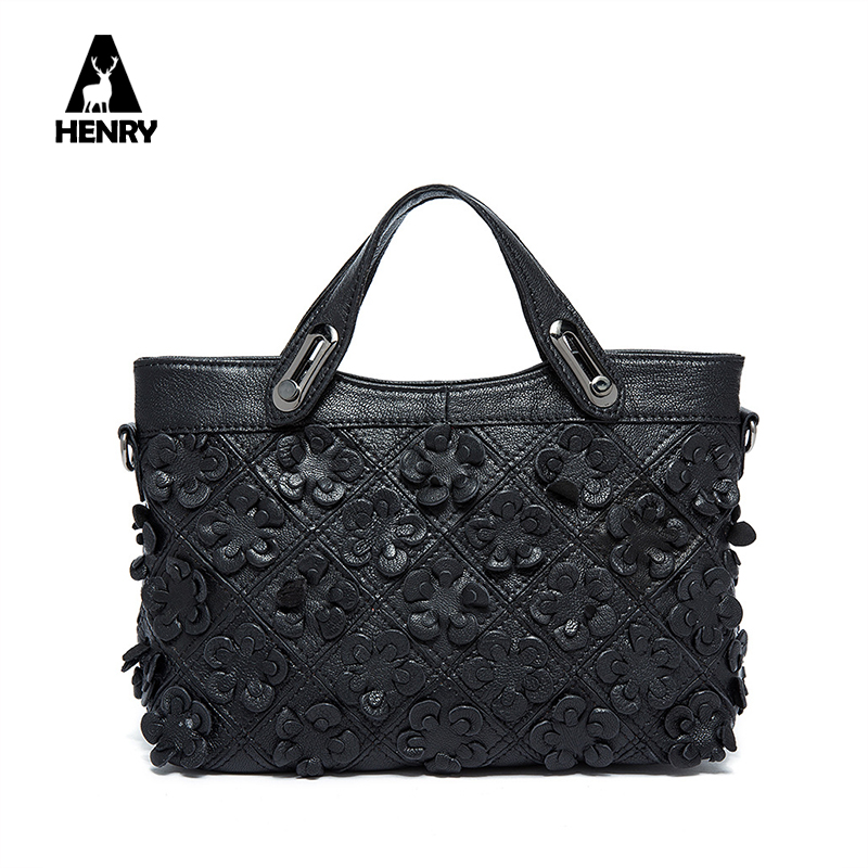 2017 Sale New Patchwork Europe And American Style Genuine Cow Leather Female Shoulder Bag Diagonal Flower Handbag Wholesale <br><br>Aliexpress