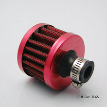 Carbon fiber, red, blue, 12 mm automotive air filter Valve Cover Vent, air intake head empty in system
