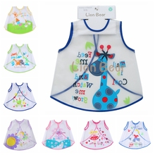 Baby & Kids Cute EVA Bibs Waterproof Children Feeding Care Burp Clothes Coat Boys Girls Cartoon Pattern Apron Bib Lion Bear