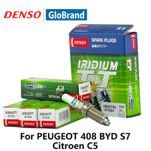 4pieces/set DENSO Car Spark Plug For Mitsubishi Asx Peugeot 408 BYD S7 Citroen C5 Honda Civic 8 double IKBH20TT Iridium(China)
