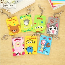 Silicone Card Holder 2018 Cartoon Animal Design Bus Name ID Hanging School Job Id Card Passport Holder Case With String(China)