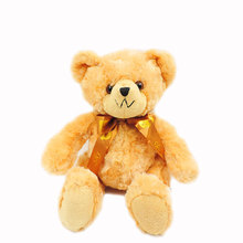 20cm Sitting Teddy Bear Plush Toy Stuffed Animals Golden Brown Big Bow Bears Soft Toys Kids Children Birthday Gifts