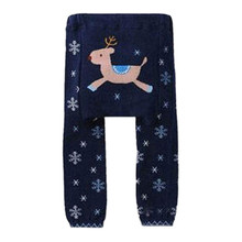 Baby Leggings cotton knitted Kids pants yarn dyed Cartoon characters toddler boys pants elastic waist Girls leggings trousers
